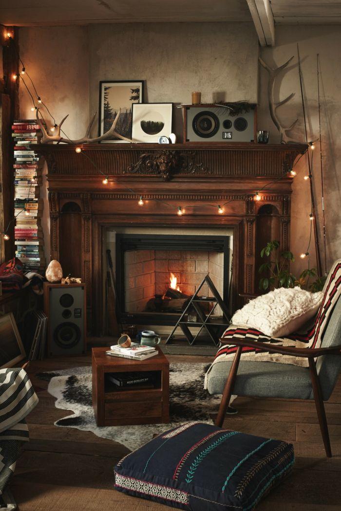 1001 ideas sobre salones acogedores con chimeneas de le a - Chimeneas decorativas ...