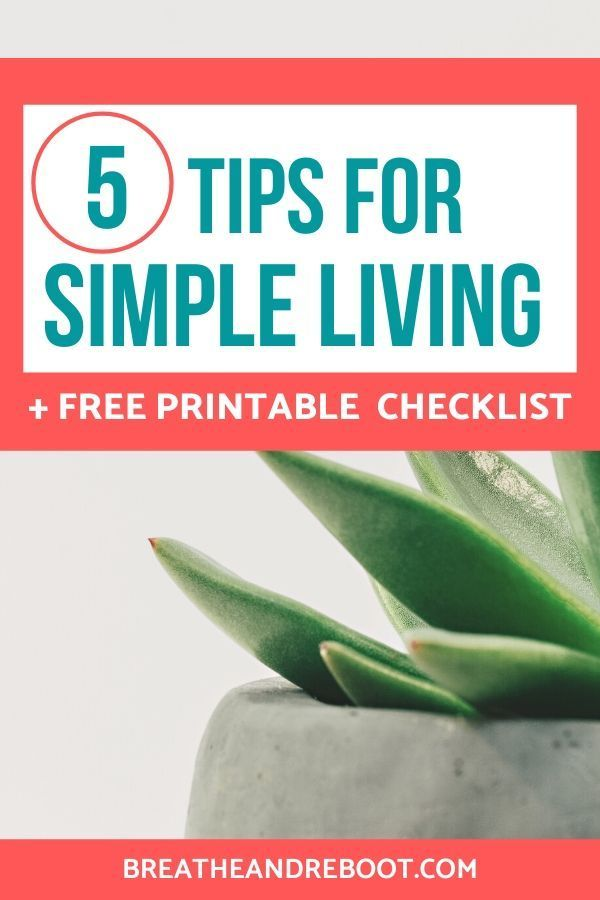 You can simplify your life when you're feeling overwhelmed and it doesn't have to be hard. Make life easier, minimize stress and anxiety and live with intention. You can start your simple lifestyle changes with these 5 simple living tips. #simplifylife #simpleinspiration #keepitsimple