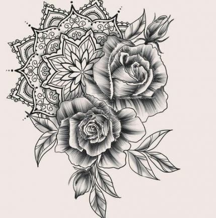 33 Ideas For Tattoo Rose Mandala Epaule In 2020 Mandala Tattoo Design Tattoos Rose Tattoos