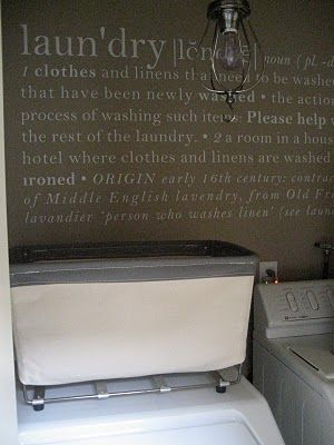 the definition of laundry on the wall  Also have seen this