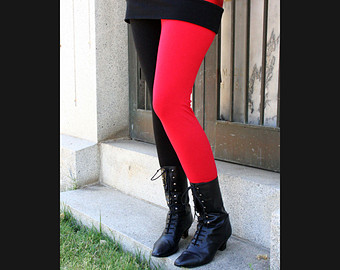 Cotton Harley Quinn Circle Skirt Red and by DerangedDesigns916