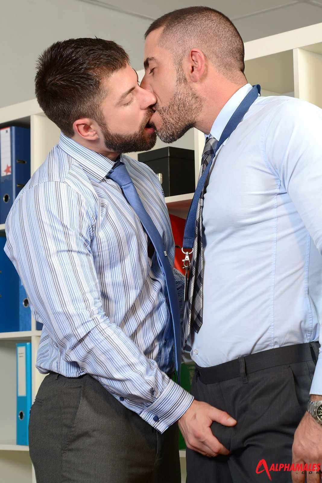 Mature gay office