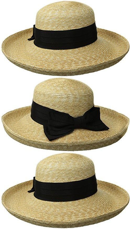 6a820b093fd Gottex Women s Vivienne Fine Milan Straw Packable Sun Hat Rated ...
