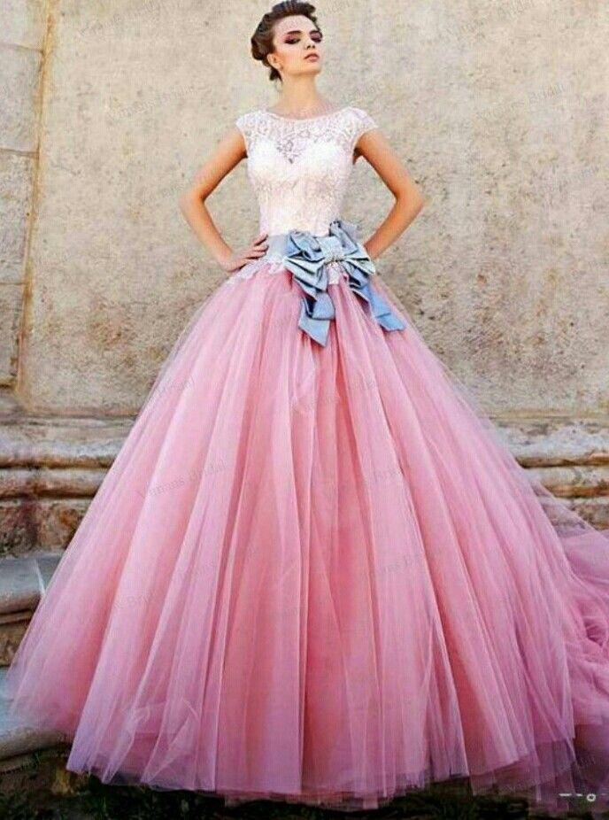Pink gown...... | ropi | Pinterest | Vestidos novia, Quinceañera y Años