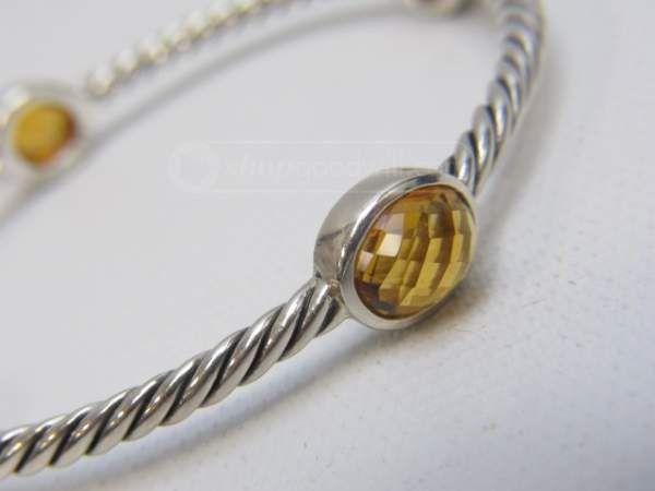 shopgoodwill.com: David Yurman Sterling Silver Citrine Cable Bangle