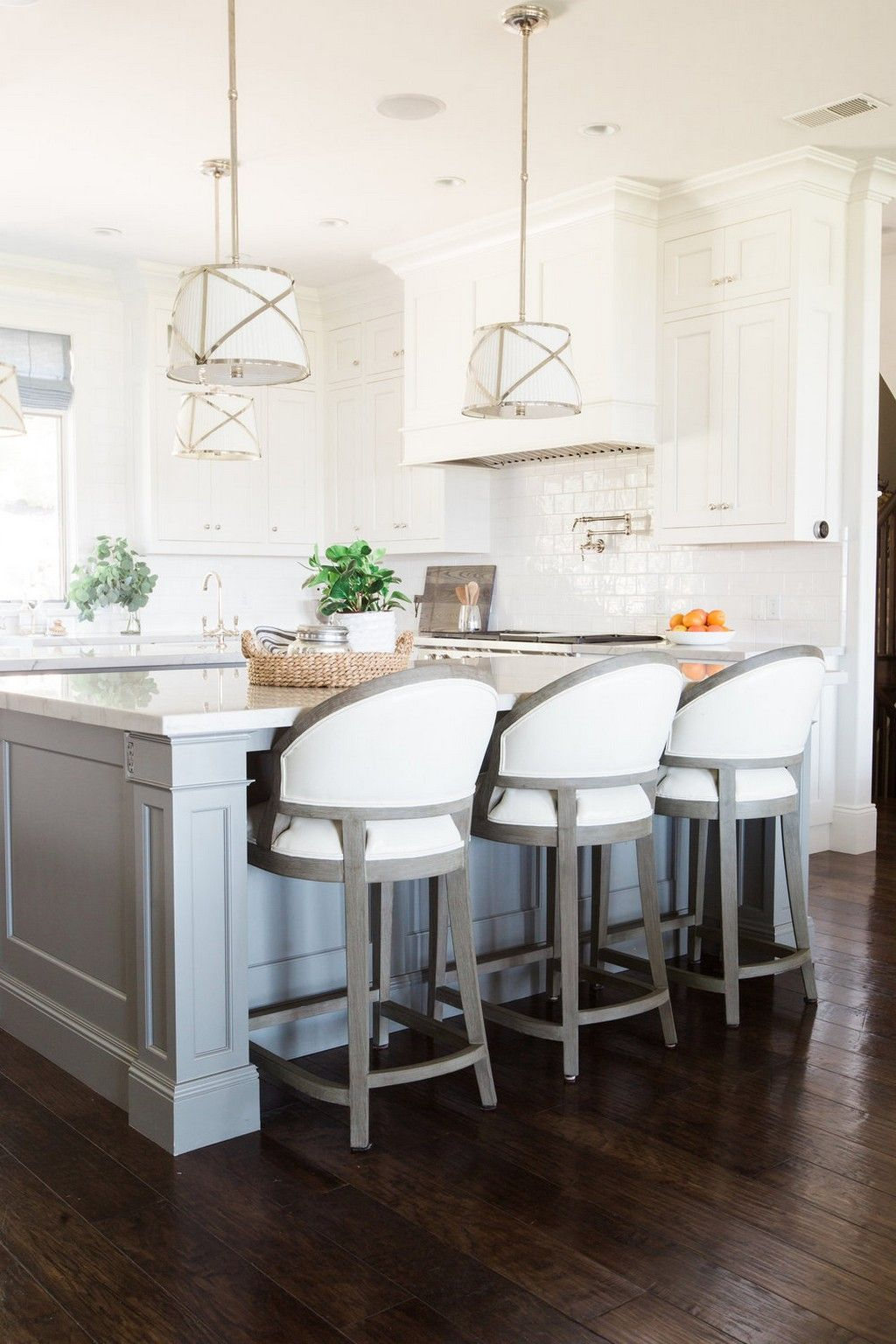 How To Decorate With White Bar Stools  Interior Design  Kitchen Extraordinary Kitchen Design Brands Design Decoration