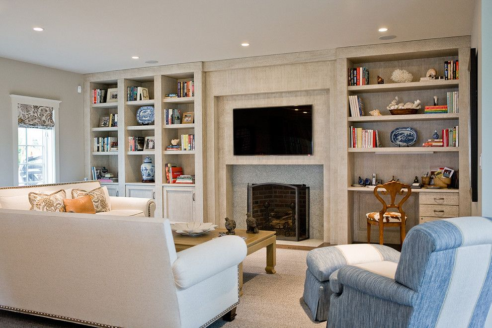 Lovely Built In Cabinets Around Fireplace Decorating Ideas in Living