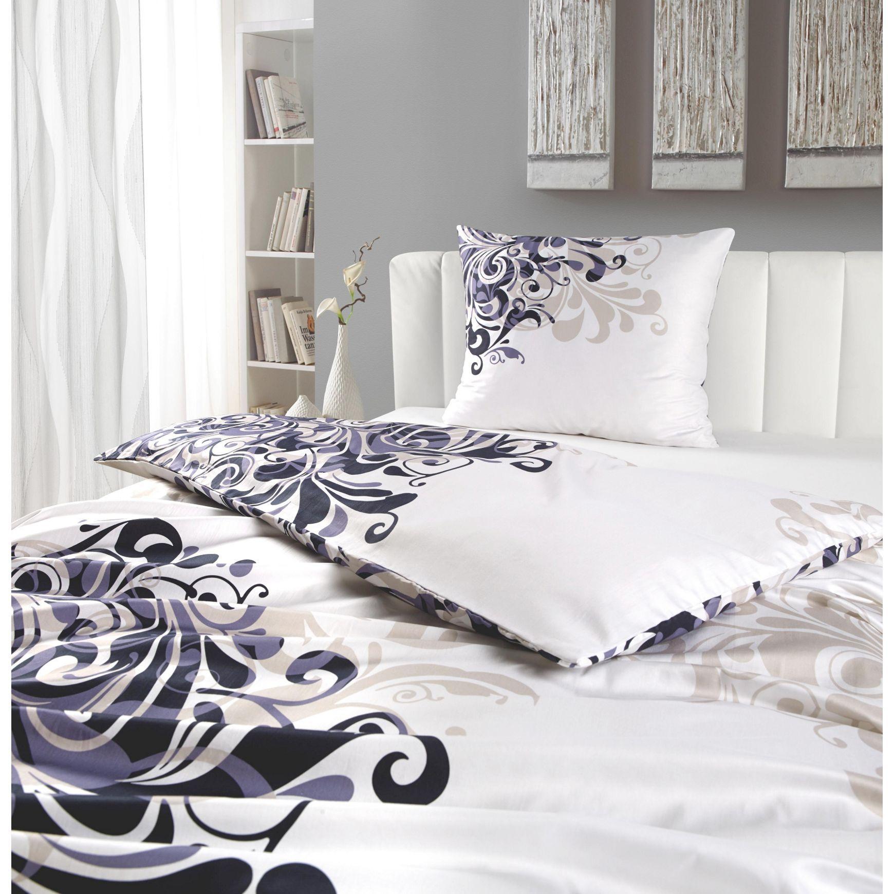 Atmungsaktive Bettwäsche mit stilvollen Ornamenten: einfach chic ...