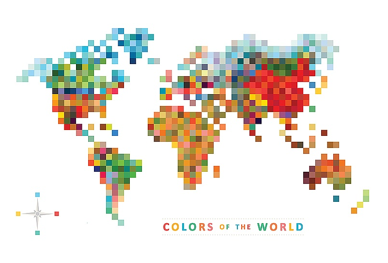 Pixel Map Colors Of The World Pixel Pinterest Bamboo Wall - Package of map colors