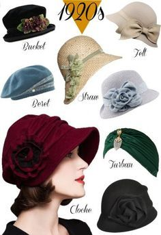 ee880f7212b26c Women's 1920s style hats, cloche hats, Gatsby hats, Miss Fishers Murder  Mystery hat, Downton Abbey hat styles. Shop at VintageDancer.com