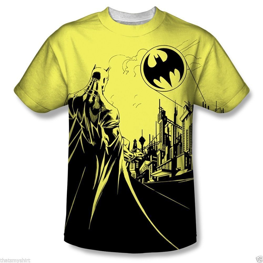 abf0db89 T-Shirts Sizes S-3Xl Mens Batman Bat Signal Vibrant Colors T-Shirt