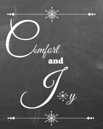 Easy Christmas decorating ideas for the kitchen | Comfort and joy, Simple christmas, Christmas ...