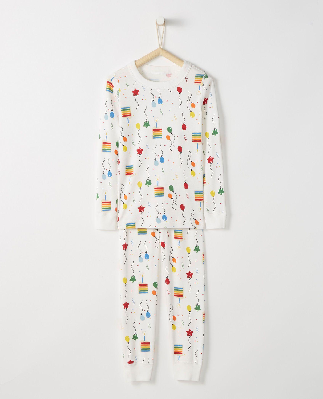 603f104aa33c Long John Pajamas In Organic Cotton in Happy Birthday - main