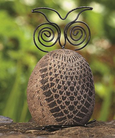 Stone U0026 Steel Owl Garden Décor #zulilyfinds