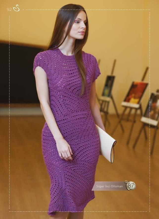 Häkelmuster Fundgrube: Kleid in asymmetrischem Wellenmuster   häkeln ...