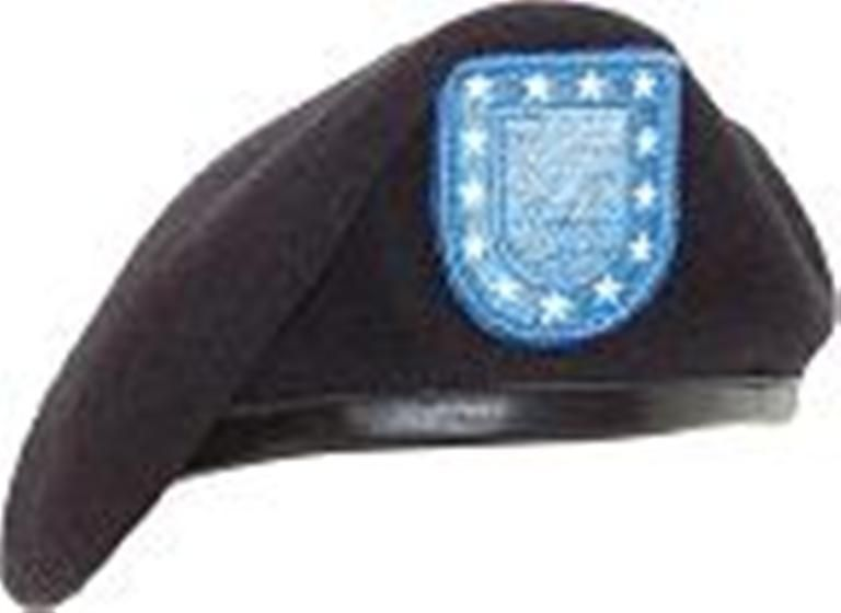 Army Black Beret Pre Shaped Pre Shaven Steamed Black Beret with Flash New  7.0