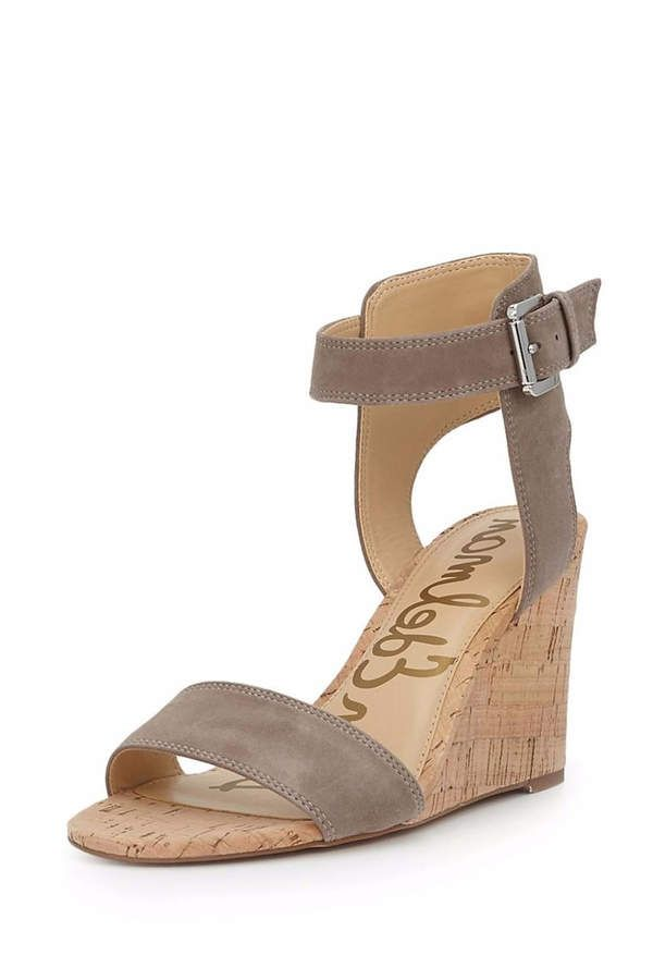 Sam Edelman Willow Wedge. The Willow Wedge Sandal is so chic. Made of  suede, its sleek shape and ankle strap adds a level of sophistication.