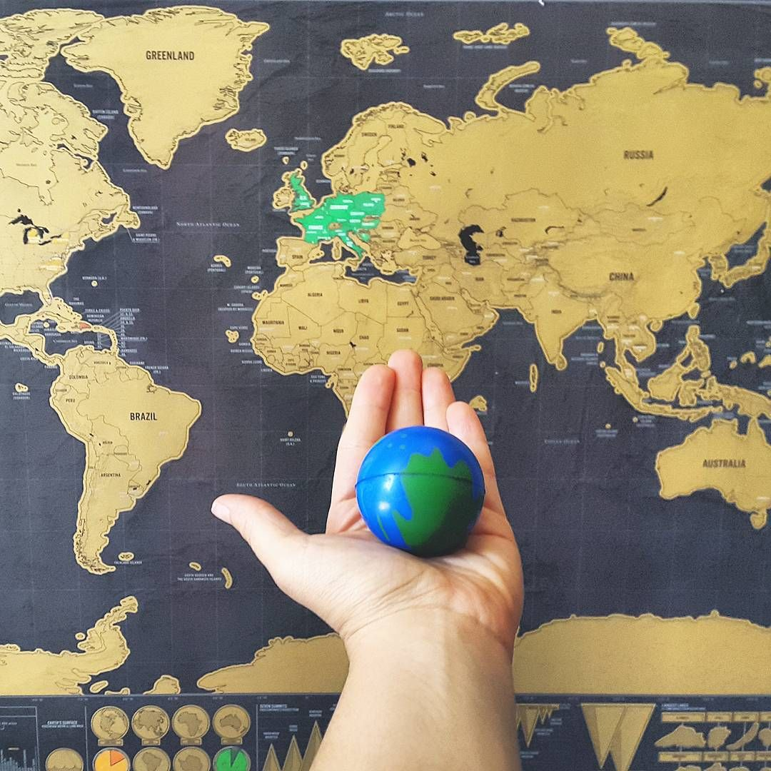 """Scratch off map. Great gift   """"It's a big, beautiful, exciting, and fascinating world out there. And I want to head out into the unknown. I want to explore. I want to experience…"""""""