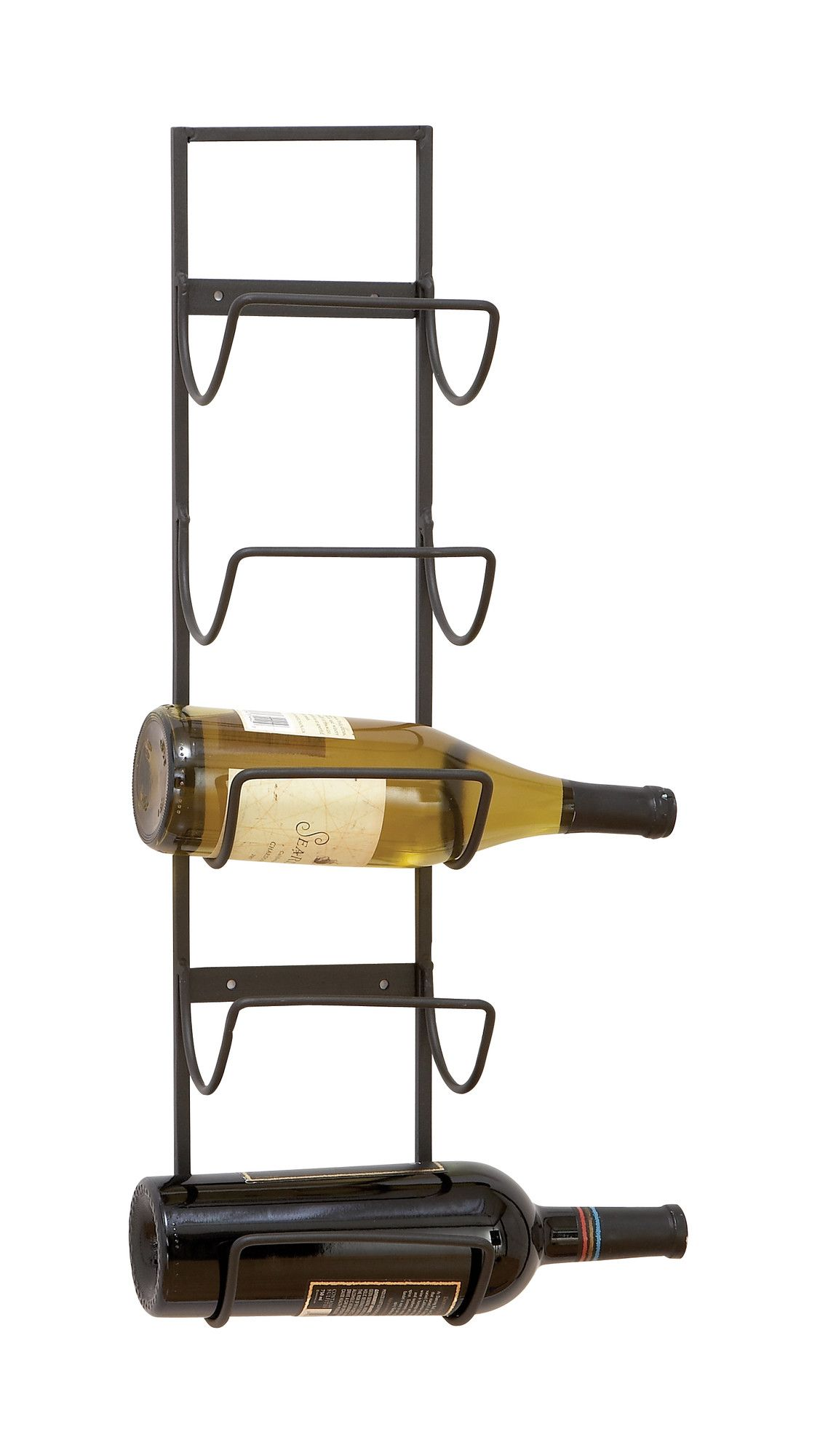 Woodland Imports Old World Wall Mounted 5 Bottle Wine Rack Reviews