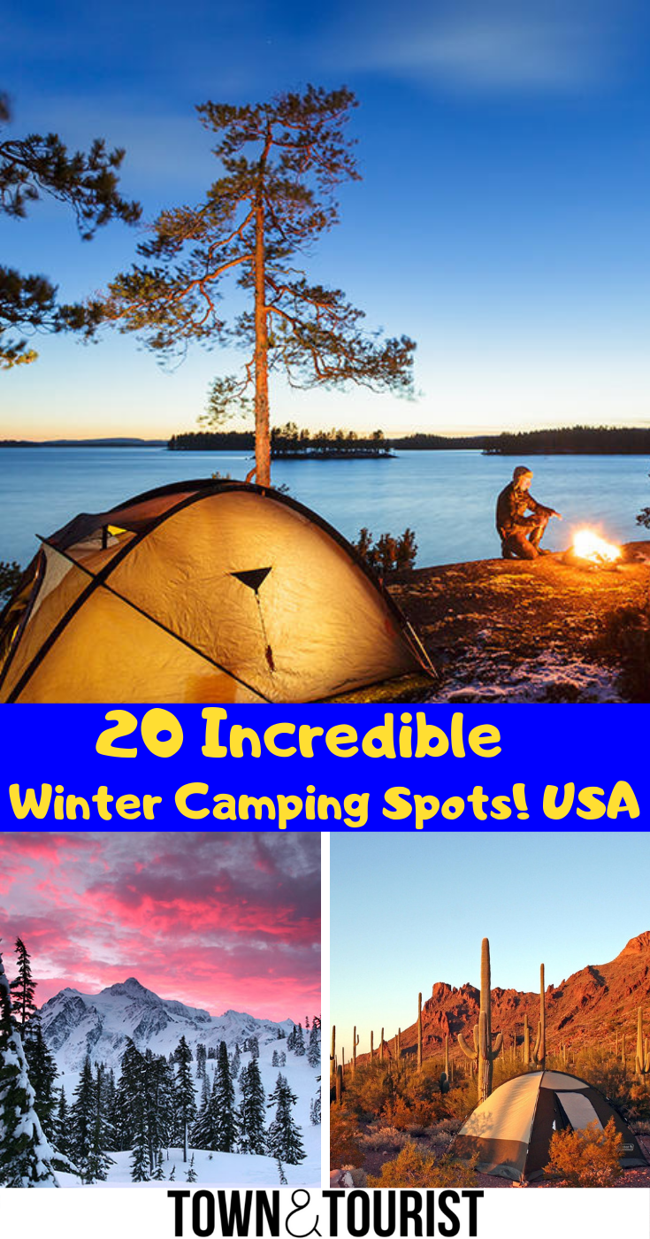 Photo of 20 Incredible Winter Camping Destinations USA: Best Winter Campings Spots, Winte…