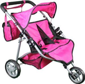 Mommy & Me Twin Doll Stroller with Free Carriage Bag - 9667 by ...