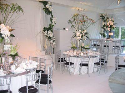 White Themed Wedding Reception Decor Wedding Themes Wedding