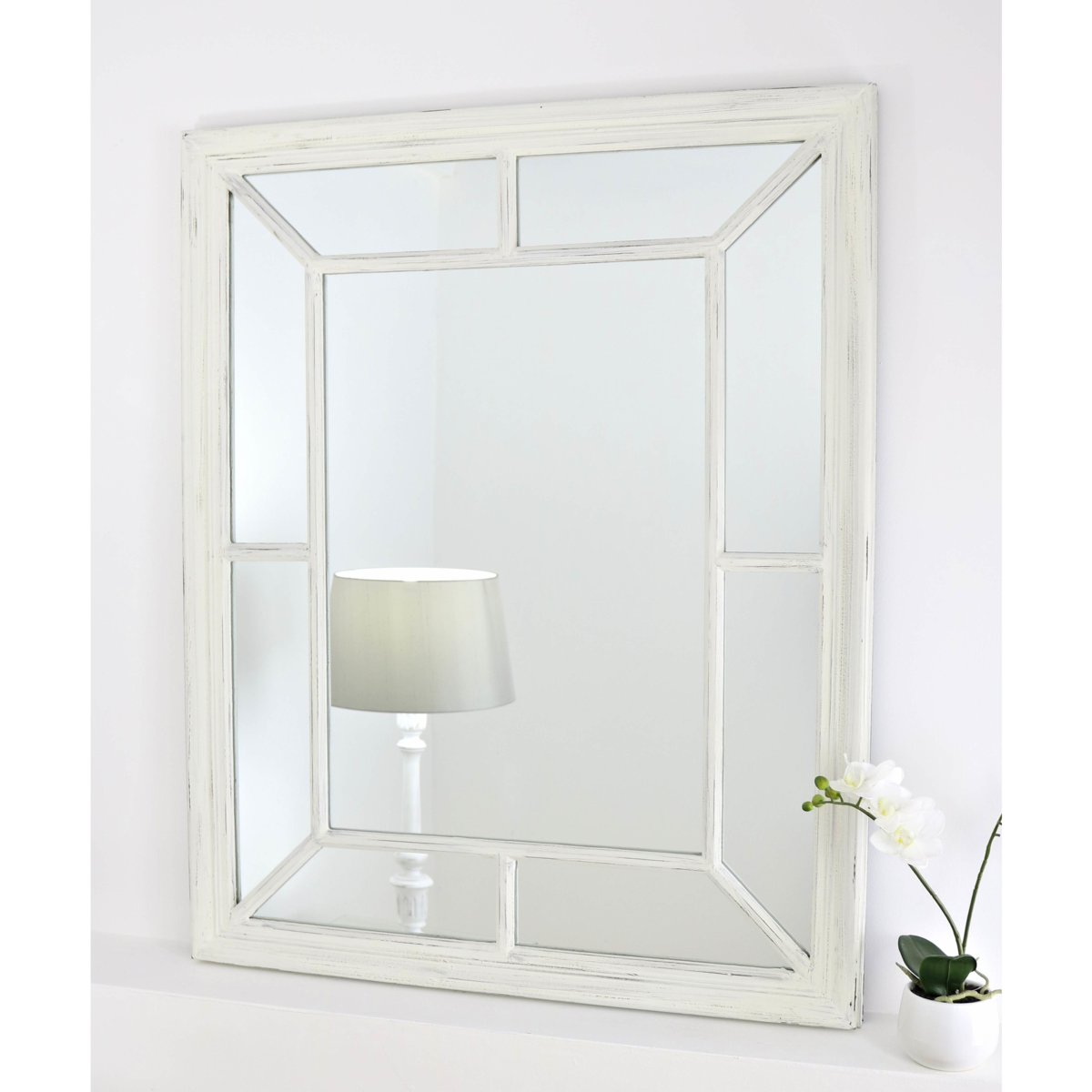 Marseilles Vintage White Shabby Chic Rectangular Mirror 40 X 32 100cm X 80cm In 2020 Home Interior Accessories Shabby Chic Mirror White Ornate Mirror