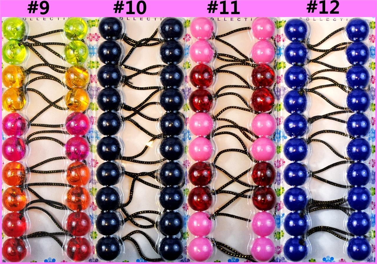NW Girl s Twin Beads Ball Ponytail Hair Tie Holder in 2019  ac56dc21f32