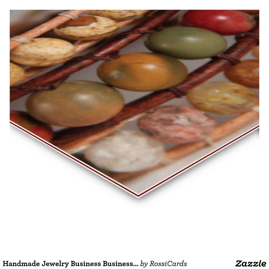 Handmade Jewellery Business Business Card | Handmade jewelry ...