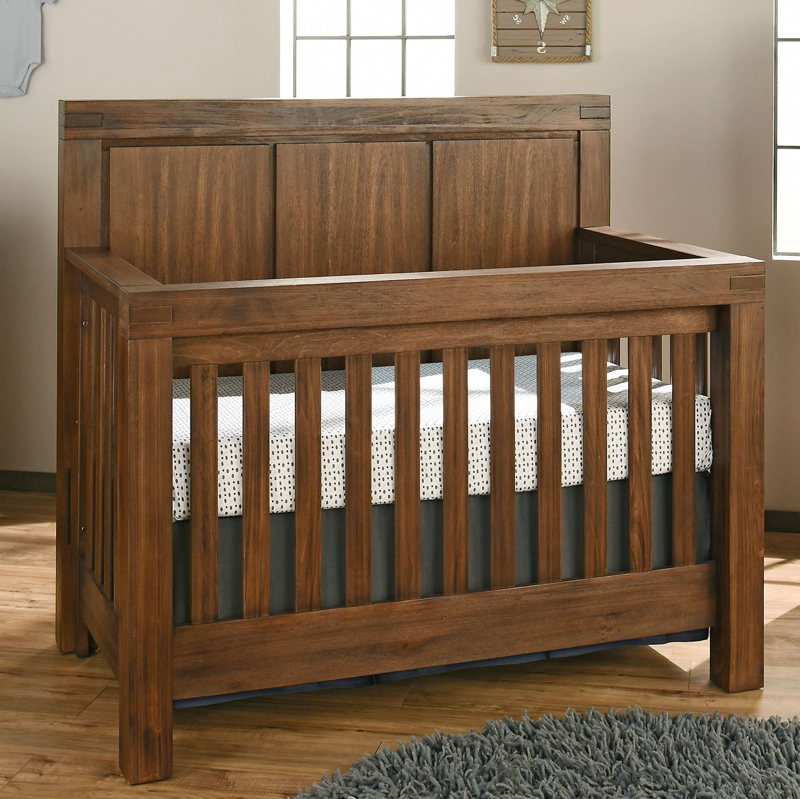 cribs baby high view angle serta grey wood crib silos rustic bbb products delta res side northbrook children in