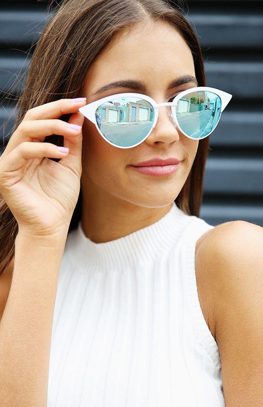 65604e9b13eb2 Quay Australia x Shay Mitchell - Tilly Sunglasses - White