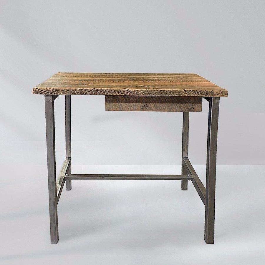 Reclaimed wood and metal office desk industrial minimalist desks
