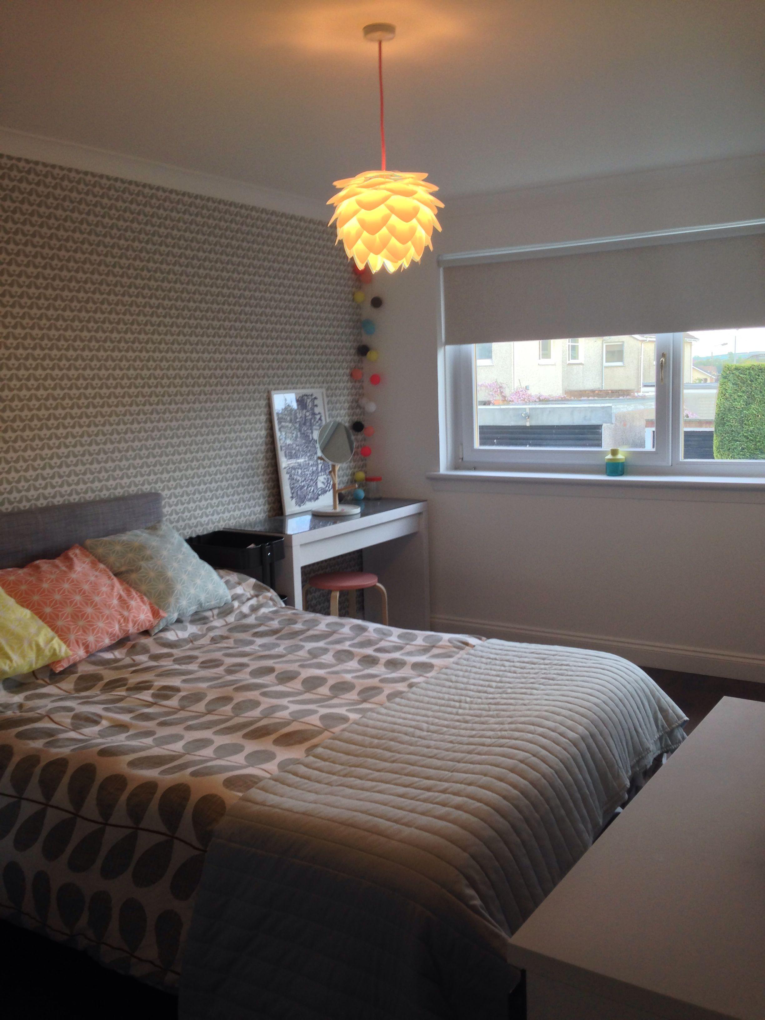 My room, orla kiely bedding, vita Sylvia mini lamp, ikea Arviksand
