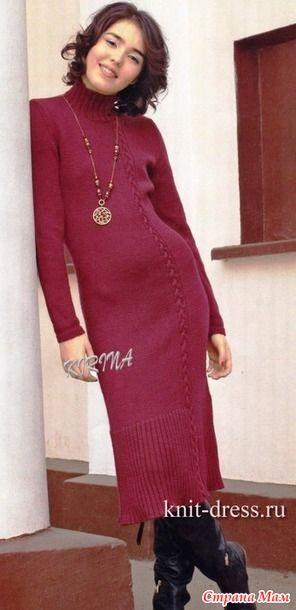Платье вязаное на спицах. Вязание плиссе Размер  46 48 ДЛЯ ВЯЗАНИЯ  ПОТРЕБУЕТСЯ bb56df253a7
