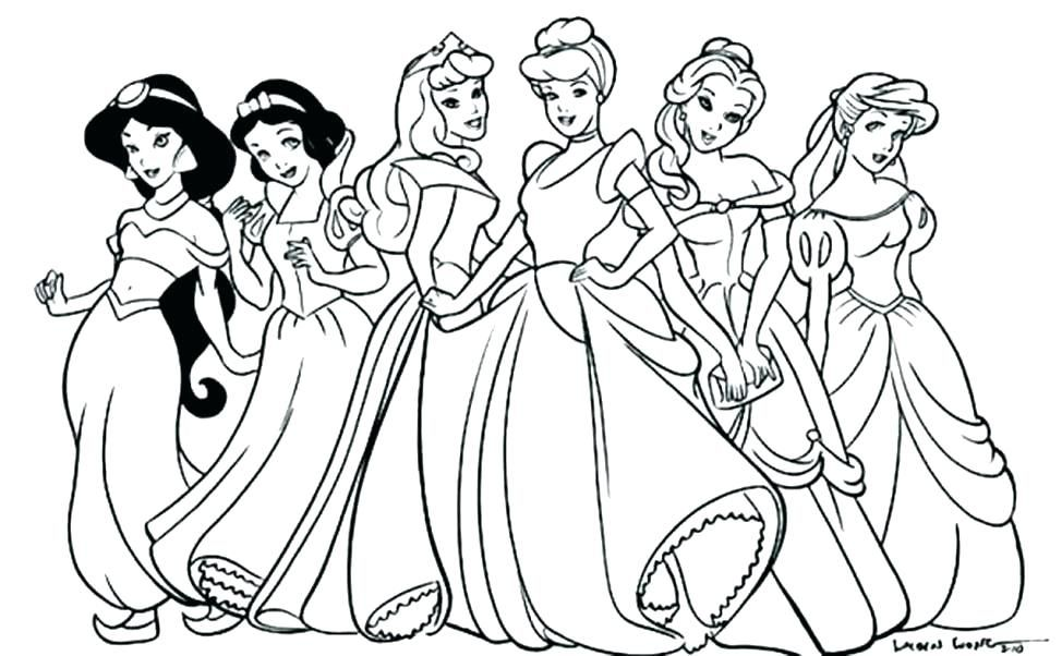 princess coloring pages for girls | Disney princess coloring pages ... | 602x974