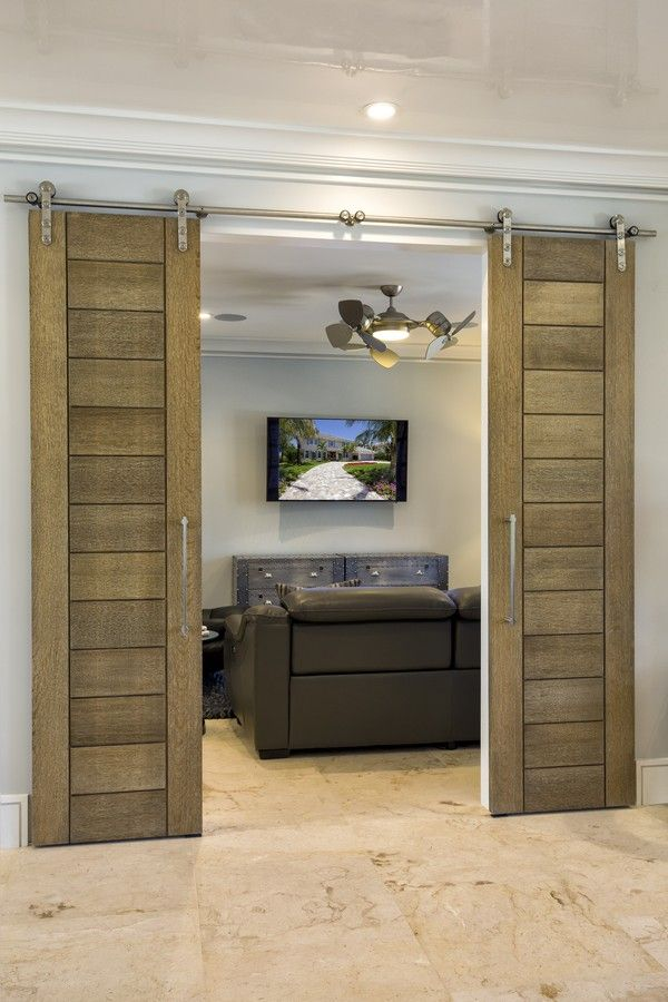 Trustile Barn Doors Tm13000 In White Oak With A Cerused Finish