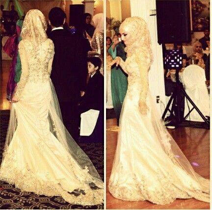 396aaa9a1eb Robe mariée hijab