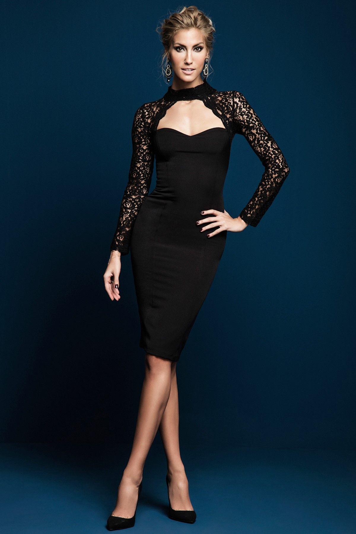 Dantel Kol Detayli Siyah Elbise Mlwaw16fz0165 Milla By Trendyol Trendyol Siyah Elbise Elbise The Dress