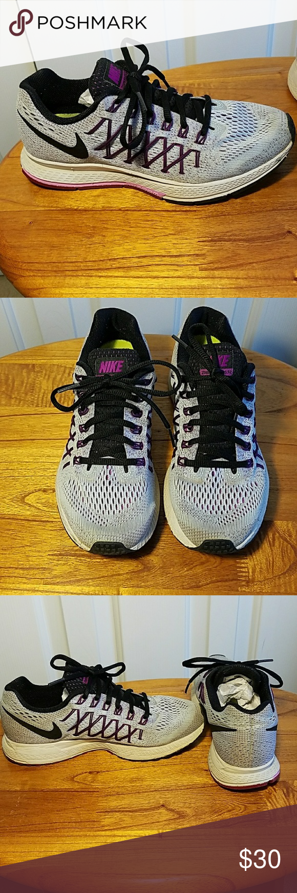 Nike Zoom Pegasus 32 Gray and Purple