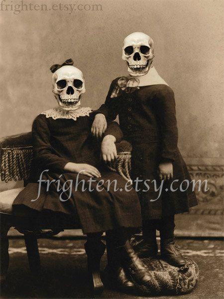 Creepy Halloween Decoration Skeleton Art Print The by frighten - creepy halloween decor