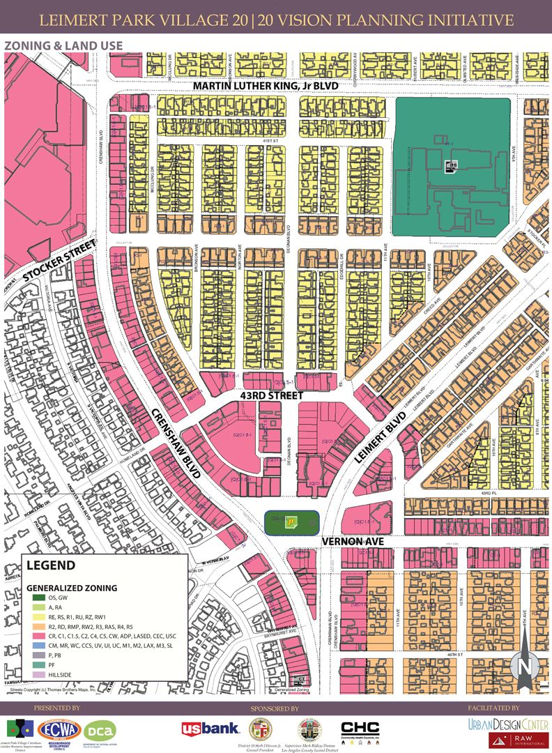 Leimert Park Village Zoning Map LA Pinterest - Los angeles zoning map