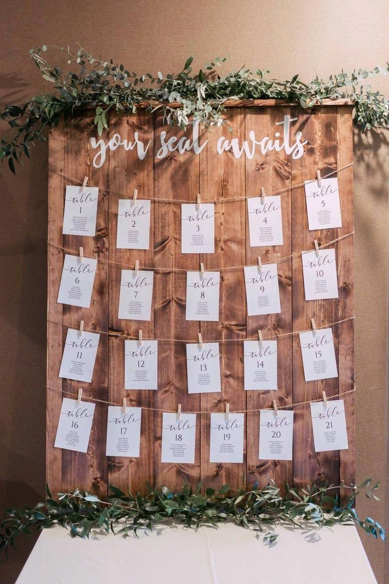 """Rustic Wedding Seating Chart 30""""x40"""" - your seat awaits"""