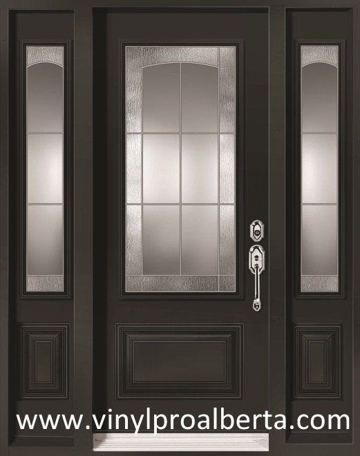 Steel Entry Door With 2 Sidelights 3 4 Custom Glass Beatrice Steel