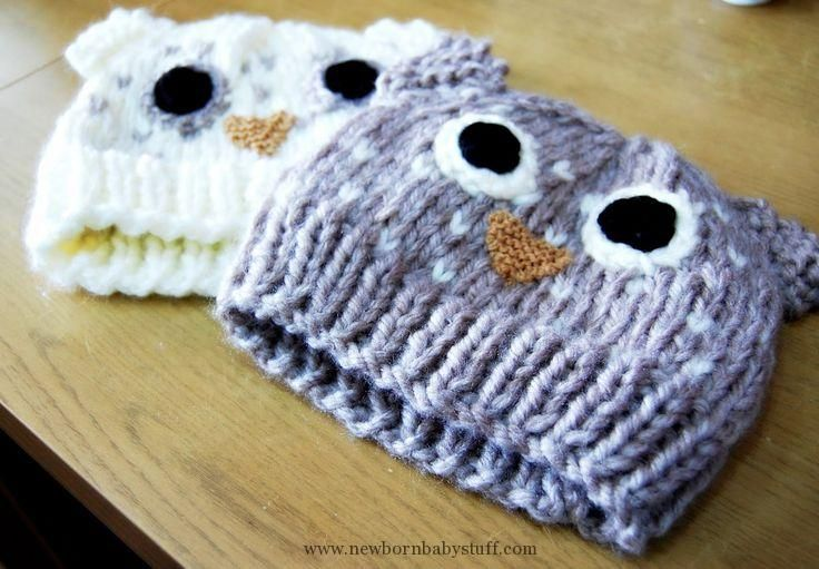 Baby Knitted Owl Hat Pattern
