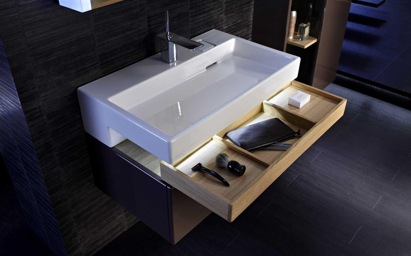Aufsatz Waschbecken Rechteckig Aus Keramik Modern Terrace