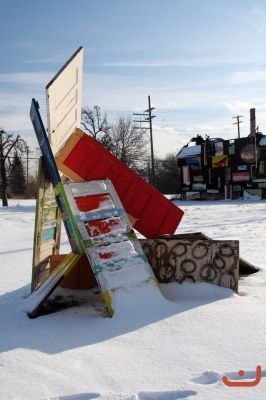 Part of the Heidelberg Project in Detroit. A neighborhood project, if you're ever in the area, stop and check it out!