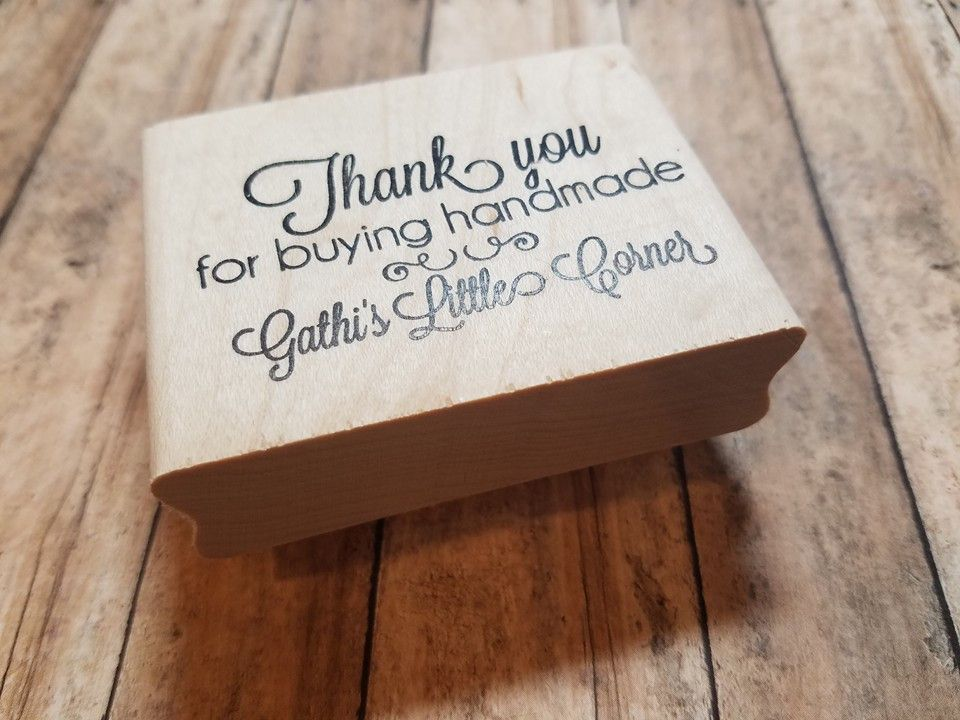 Thank you for Buying Handmade Personalized Clear Stamp | etsywants ...