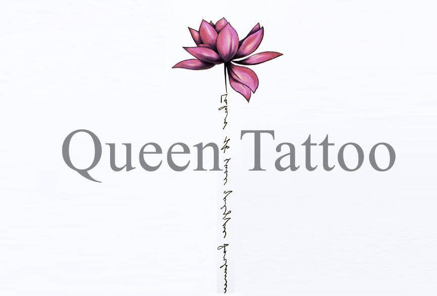 44496866f Pink Lotus Flower Temporary Tattoo-Tattoo Sticker | Tattoo | Tattoos ...