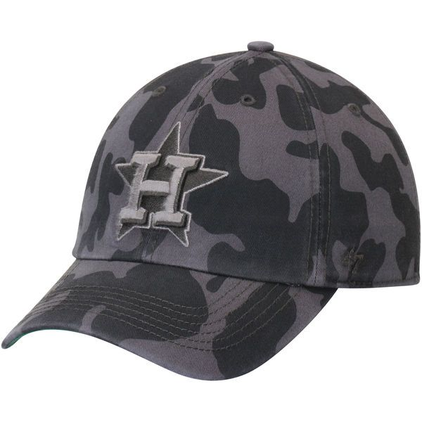 c41670a4194 Men s Houston Astros  47 Charcoal Flintlock Franchise Fitted Hat ...