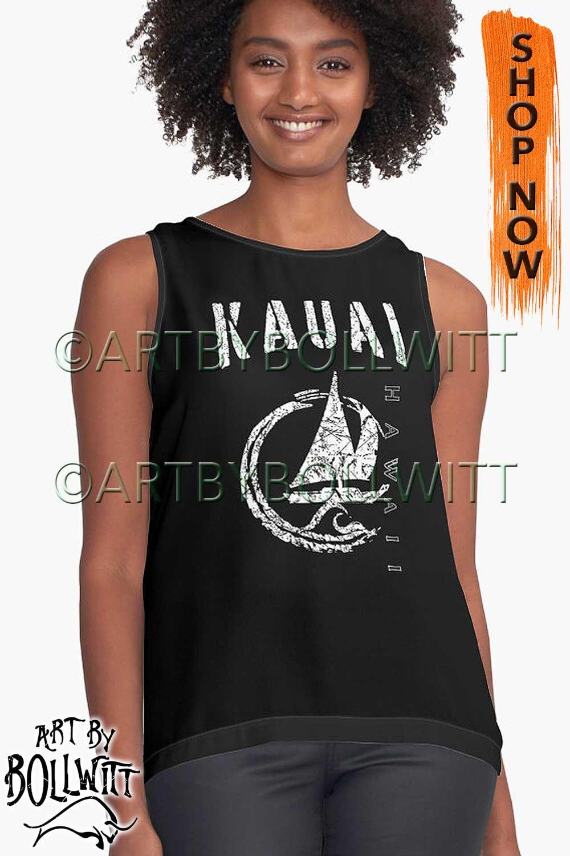 'Kauai Hawaii, HI Sailing Gift, Sailboat, Boating, Yacht